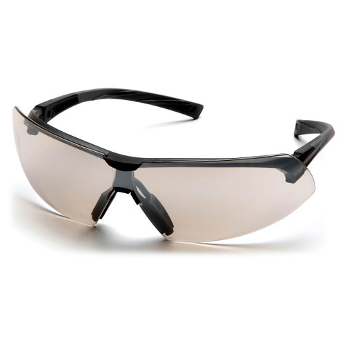 Pyramex Safety Onix Safety Glasses - Black Frame/Indoor/Outdoor Mirror Lens