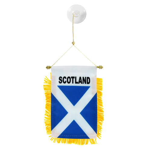 Scotland St Andrews Cross Mini Window Banner