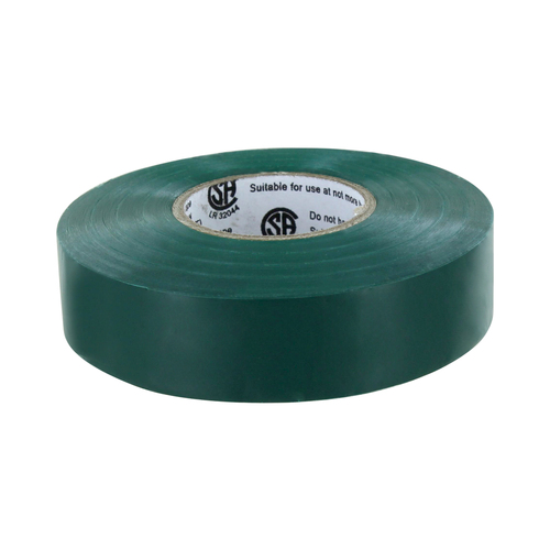 Rugged Blue M 809 Electrical Tape 3/4in x 66ft x 7 mil U/L Green