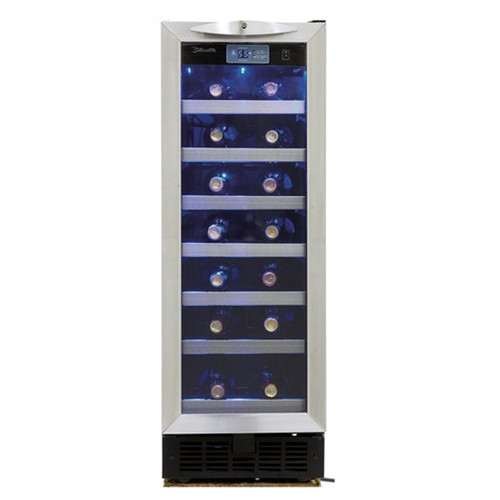 27 Bottle Wine Cooler - Black / Stainless