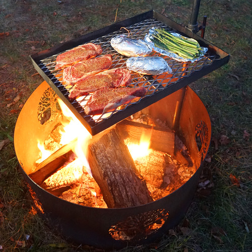 """Cook Set for 30"""" Fire Pit Rings"""
