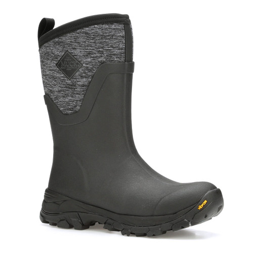 Muck Boots Women's Arctic Ice II Mid Insulated Waterproof Black/Jersey Heather  Work Boots