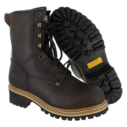 """8"""" Pioneer Rugged Blue Logger Boot"""