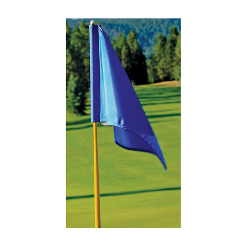 """Solid Color Nylon Golf Flags - 14"""" x 20"""" - Tube Style"""