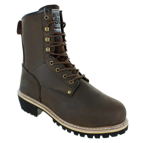 Rugged Blue Pioneer II Insulated Logger Boot