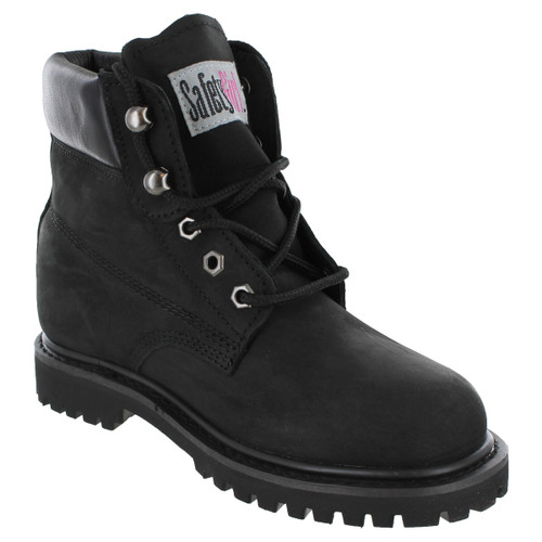Soft Toe Work Boots - Safety Girl II - Black