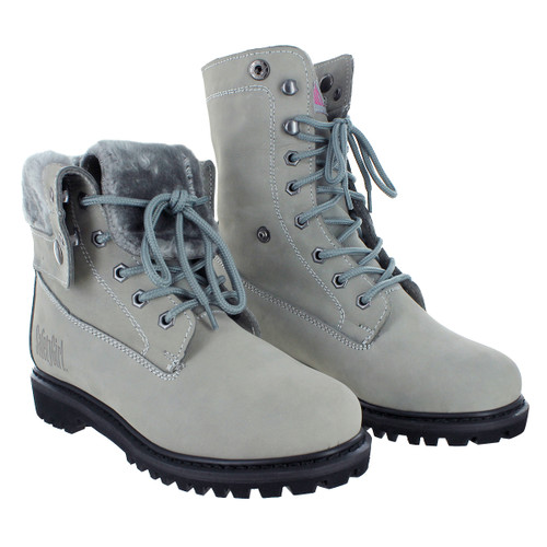 Madison Fold-Down Work Boot - Safety Girl - Gray