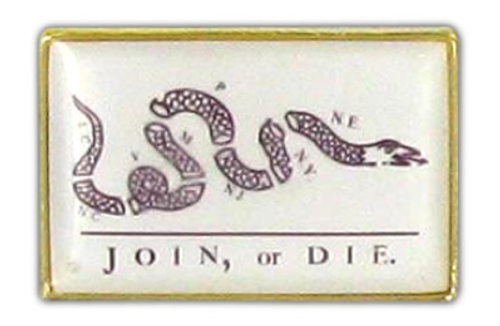 Join or Die Flag Lapel Pin