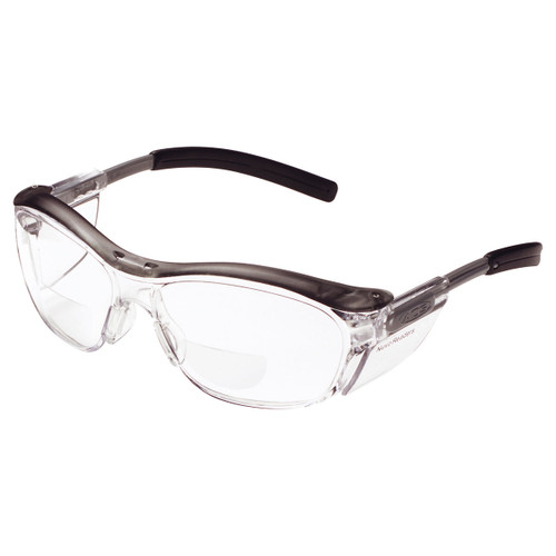 AOSafety Nuvo Reader Safety Glasses - Clear Lens, Gray Frame