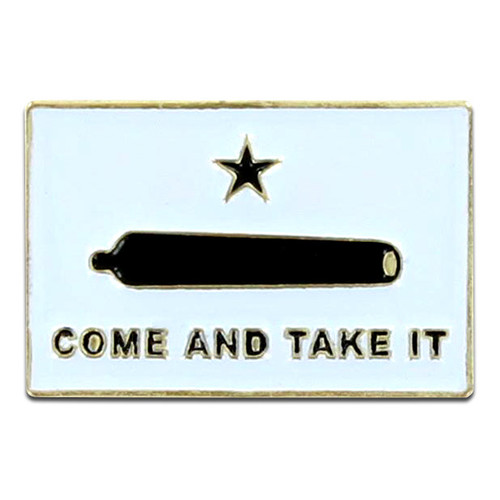 Gonzales Flag Lapel Pin - Come and Take It
