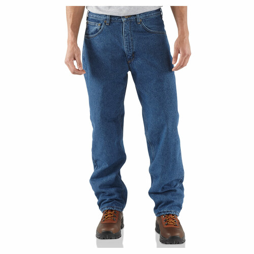 Carhartt Men's Jeans - Relaxed Fit - Straight Leg - Fleece Lined