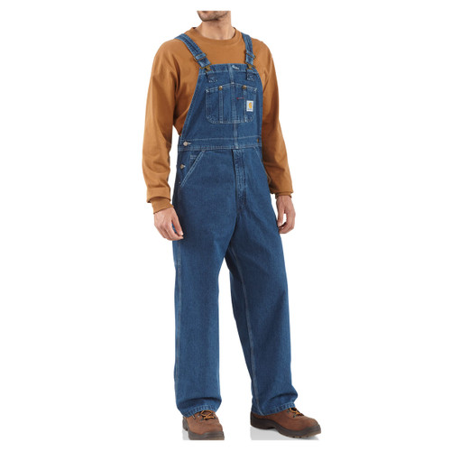 Carhartt Men's R07 Loose-Fit Washed Denim Unlined Bib Overall