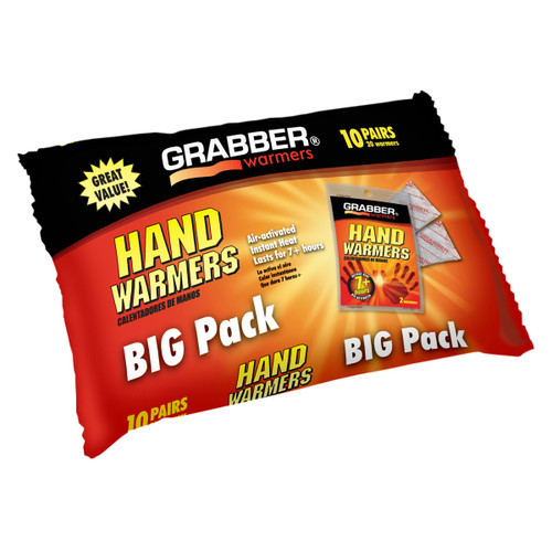 Grabber Mini Pocket Hand Warmers - 10 Pair/Pack