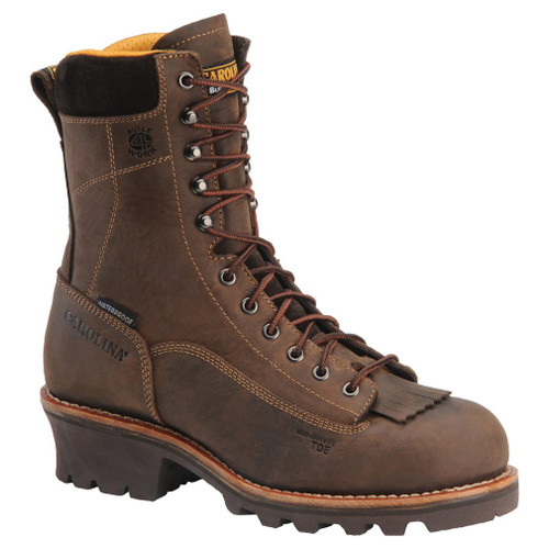 "Carolina Men's 8"" Waterproof Lace-To-Toe Logger Boots - CA7022 & CA7522"