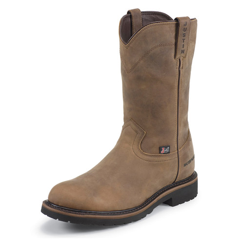 """Men's 10"""" Wyoming Round Toe Waterproof Boots - Justin Boots - WK4960 & WK4961"""