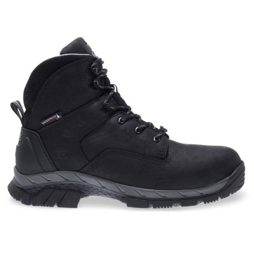 "Wolverine Men's Black Glacier Ice 6"" WP Insulated Carbonmax Safety Toe Boots - W10647"