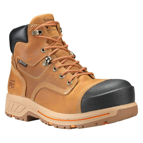"Timberland PRO Men's 6"" Distressed Wheat Helix HD Composite Toe WP Work Boots - A1HPY231"