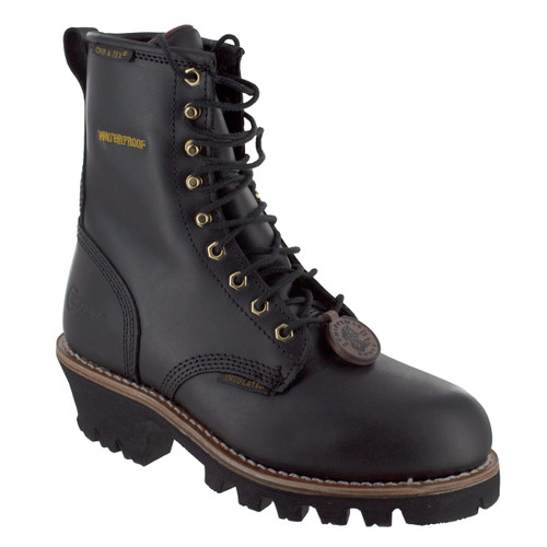 "Chippewa Women's 8"" Black Steel Toe Logger - L73050"