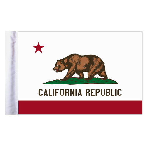 "California Motorcycle Flag - 6"" x 9"""