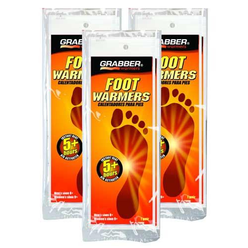 Grabber Foot Warmers 3 pair/pack