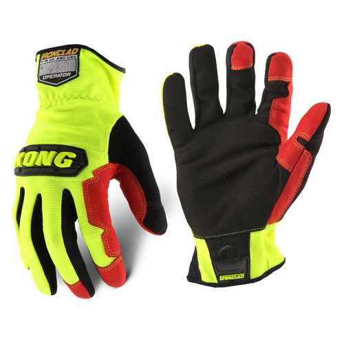 Ironclad KONG KOPR General Utility High-Visibility Operator Mechanic Gloves