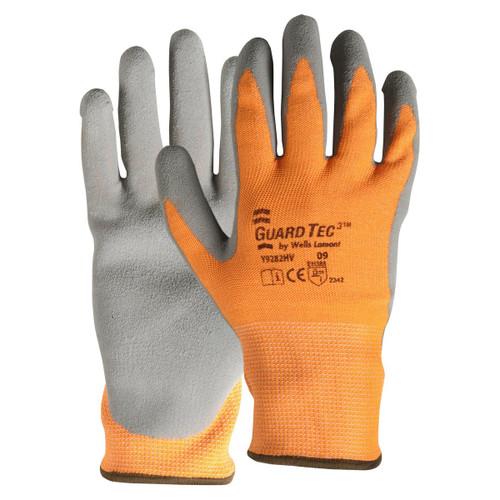 Wells Lamont Y9285HV GuardTec3 High-Vis Latex Palm Gloves - Single Pair