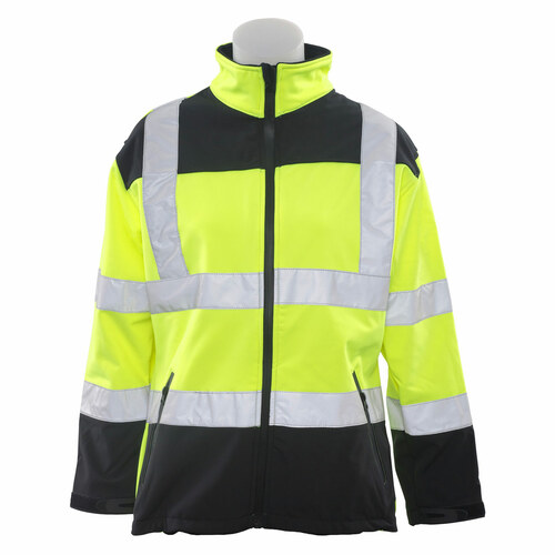 ERB Women's W651 Class 2 High-Visibility Soft Shell Safety Jacket