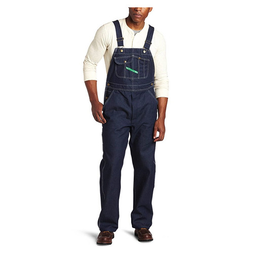 KEY Industries 273 Hi-Back with Zippered Fly Denim Bib Overall