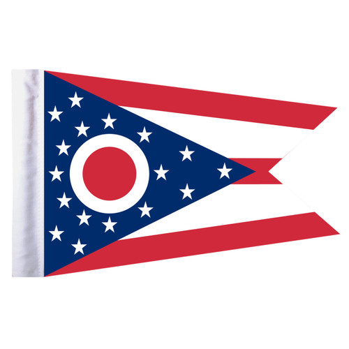 "Ohio Motorcycle Flag - 6"" x 9"""