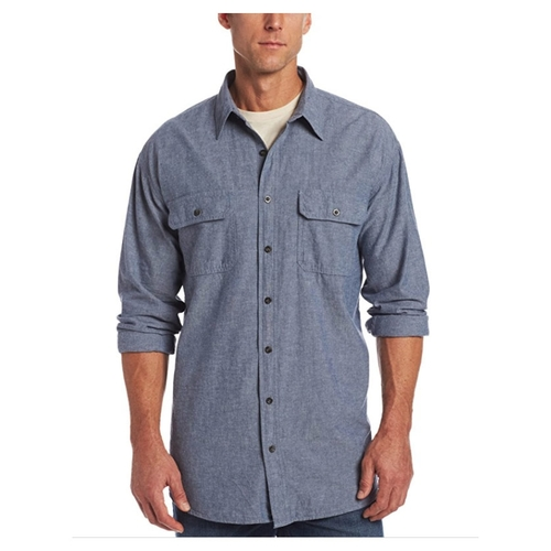 KEY Industries Pre-Washed Chambray Long Sleeve Shirt - 517
