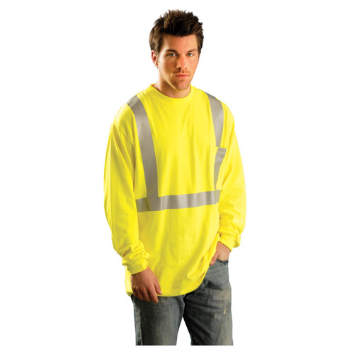 Occunomix Class 2 High-Vis Flame Resistant Long Sleeve T-Shirt - LUX-LST2/FR