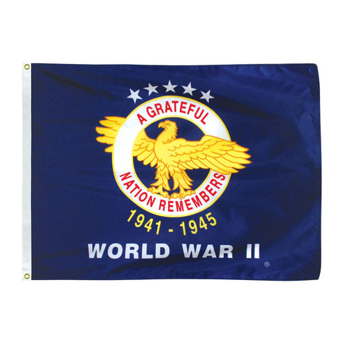 World War II Veterans 3ft x 4ft Nylon Flag