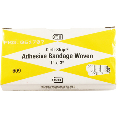"Cert Strip Woven Bandages, 1"" x 3"", 16 pack"