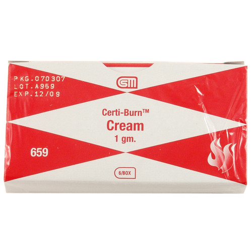 Certi Burn Cream, 1 gm., 6 pack