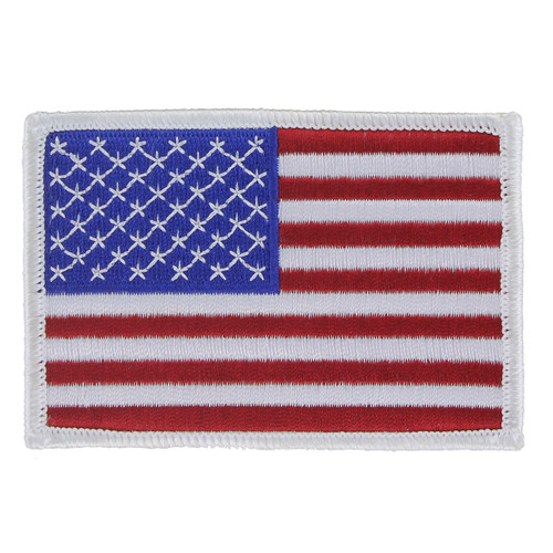 American Flag Patch - White Border - Left Star Field