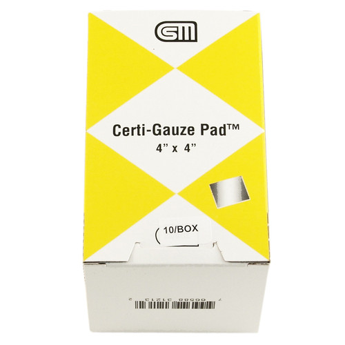 "Certi Gauze Pads, 4"" x 4"", 10/box"