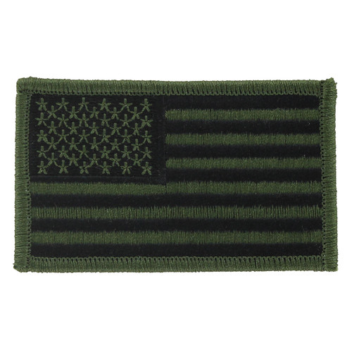 American Flag Patch - Olive Camoflage