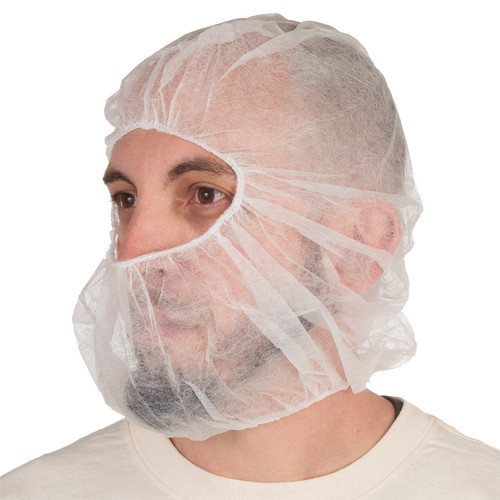 100 Pack Sanitary Bouffant Protective Head and Beard Covering- PP2BC