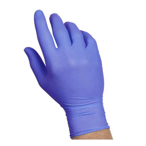 Nitrile Disposable Gloves- Blue-Powder Free-  Box of 100