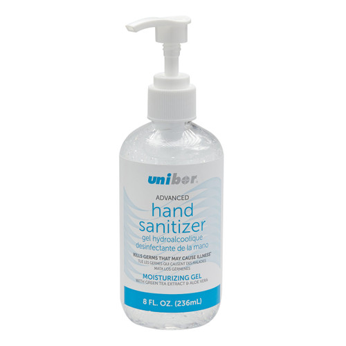 8 fl oz. Gel Hand Sanitizer by Unibor- UHS338