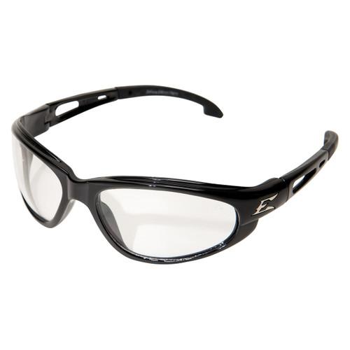 Edge Dakura Safety Glasses with Black Frame - Clear Anti-Fog Lens