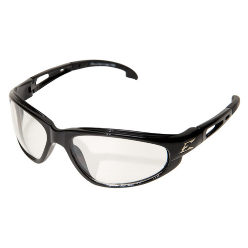 Edge Dakura Safety Glasses with Black Frame - Anti-Reflective Lens