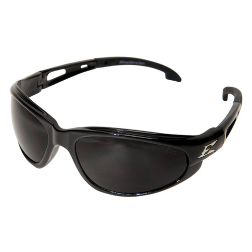Edge Dakura Safety Glasses with Black Frame - Smoke Lens