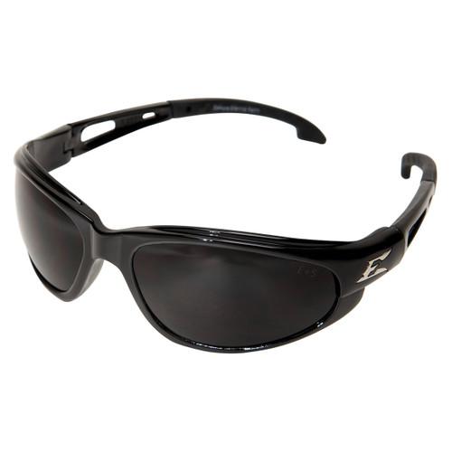 Edge Dakura Safety Glasses with Black Frame - Smoke Anti-Fog Lens