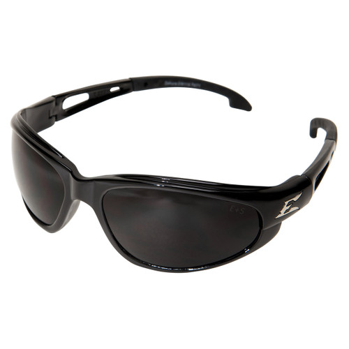 Edge Dakura Safety Glasses with Black Frame - Smoke Anti-Fog Lens