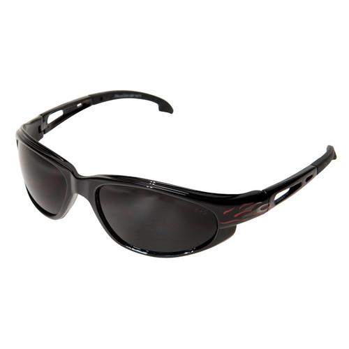 Edge Dakura Black Fire Series Safety Glasses - Smoke Lens