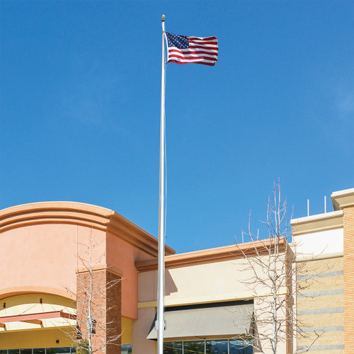 35-Foot Atlas Series ECA35 Two-Piece Flagpole with Revolving Truck