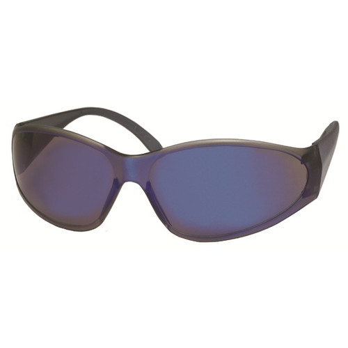 ERB Safety Glasses with Blue Frame and Blue Mirror Lens