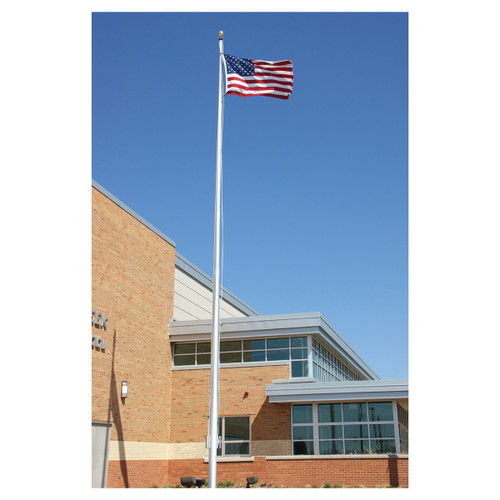 35-Foot Architectural Series EC35 Two-Piece Flagpole with Revolving Truck