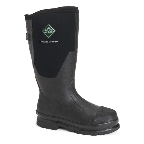Muck Boots Women's Chore Steel Toe Tall Waterproof Work Boots